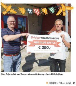VOG-De Linge wint de Club Battle (weer)